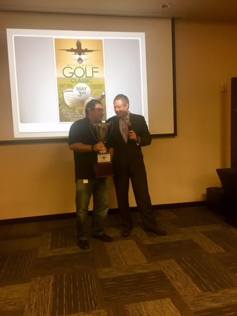 The winner of the October 2017 Golf Tournament: Aerothrust
